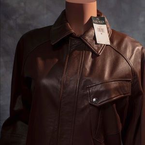 Women's Polo Ralph Lauren leather jacket